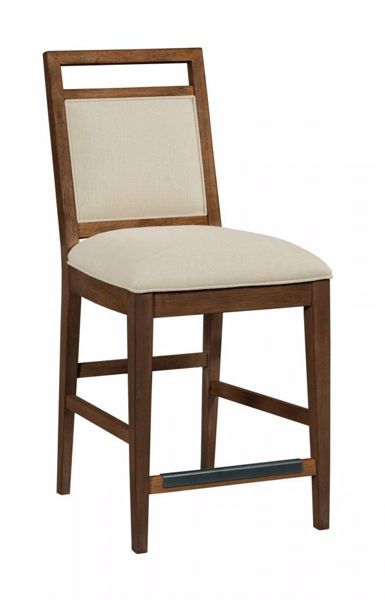 Picture of NOOK HEWNED MAPLE UPHOLSTERED COUNTER CHAIR