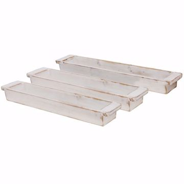 Picture of SET OF 3 WOODEN TRAYS