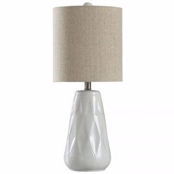 Picture of CERAMIC TRANSITIONAL DIAMOND LAMP