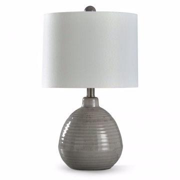 Picture of ROUND CERAMIC TABLE LAMP