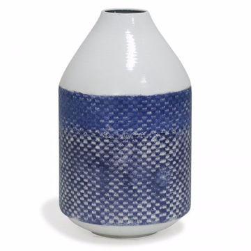 Picture of TRADITIONAL CHECKERED METAL VASE