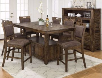 Picture of COUNTER TABLE & 6 STOOLS