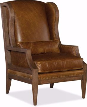 Picture of LAUREL EXPOSED WOOD CLUB CHAIR