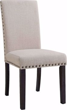 Picture of GREYSTONE MARBLE FABRIC BACK SIDE CHAIR