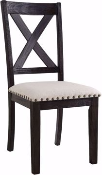 Picture of GREYSTONE MARBLE WOOD SIDE CHAIR