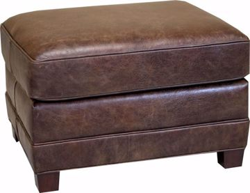 Picture of HANCOCK & MOORE YOUR WAY LEATHER OTTOMAN