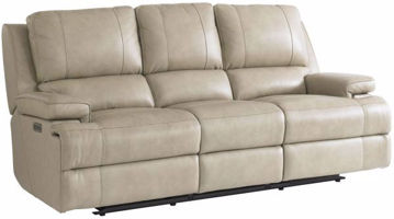 Picture of BASSETT CLUB LEVEL PARKER POWER SOFA (FLAX)