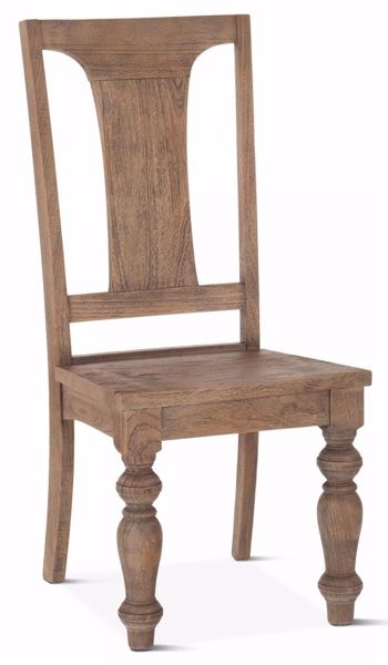 Picture of COLONIAL PLANK WEATHERED TEAK DINING CHAIR