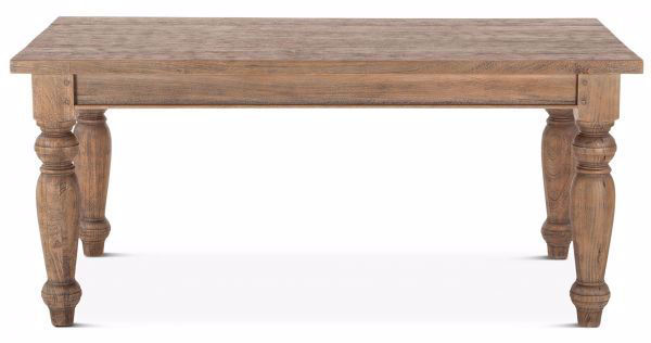 Picture of COLONIAL PLANK WEATHERED TEAK DINING TABLE