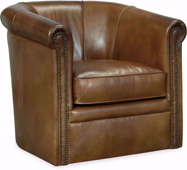 Picture of AXTON SWIVEL LEATHER CHAIR