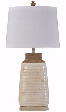 Picture of ARMOND IVORY TABLE LAMP