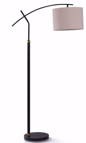 Picture of DUDLEY BLACK FLOOR LAMP