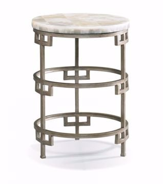 Picture of SHERRILL ROUND ONYX LAMP TABLE