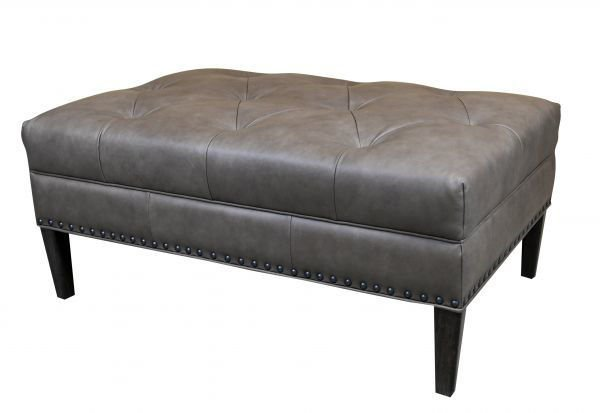 Picture of BASSETT LARGE LEATHER RECTANGLE OTTOMAN