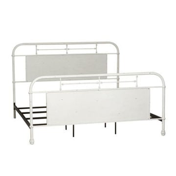 Picture of VINTAGE QUEEN METAL BED - ANTIQUE WHITE