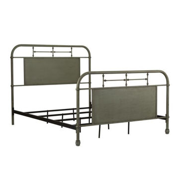 Picture of VINTAGE QUEEN METAL BED - GREEN