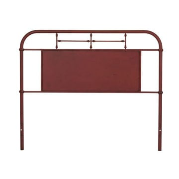 Picture of VINTAGE QUEEN METAL HEADBOARD - RED