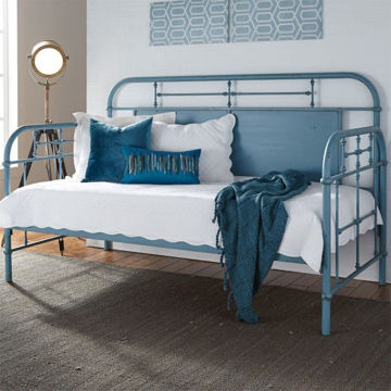 Picture of VINTAGE BLUE TWIN  TRUNDLE DAYBED