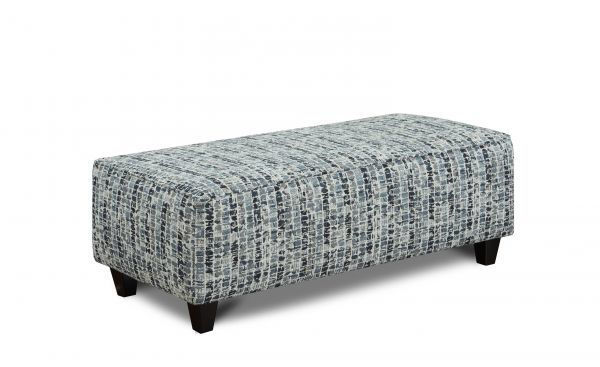 Picture of HIGHRISE INDIGO OTTOMAN