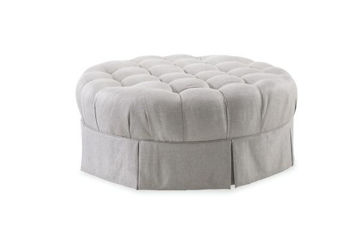 Picture of AVA GREY ROUND OTTOMAN