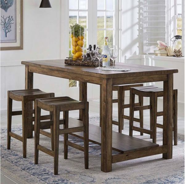 Picture of BROWNSTONE NOOK GATHERING TABLE & STOOL GROUP