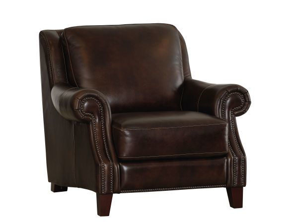 Picture of BASSETT PIERCE LEATHER CHAIR