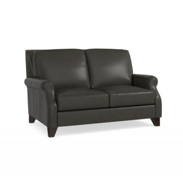 Picture of BASSETT GREYSON LEATHER LOVESEAT