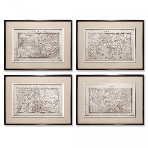 Picture of OLD MAP PRINTS SET
