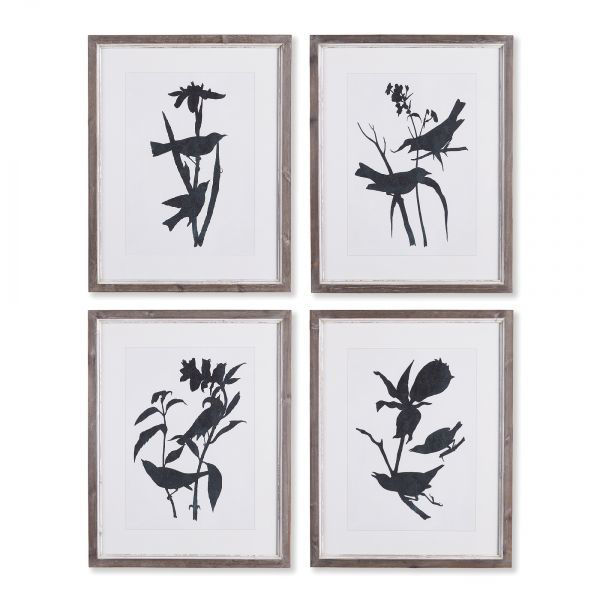 Picture of BIRD SILHOUETTE PRINT SET