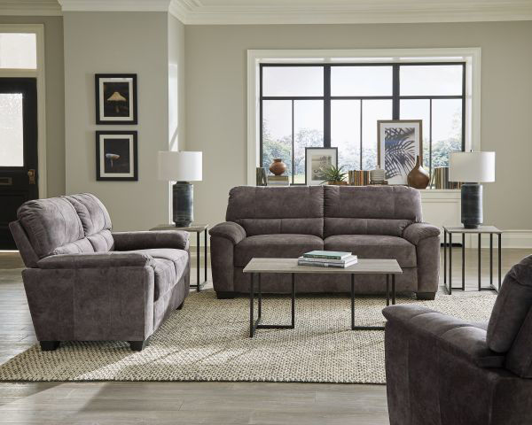 Picture of CASUAL CHARCOAL GREY LOVESEAT