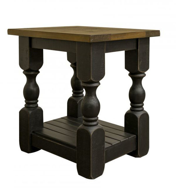 Picture of STONE BLACK CHAIRSIDE TABLE