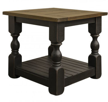 Picture of STONE BLACK END TABLE