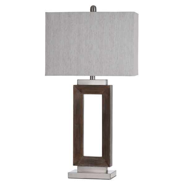 Picture of EAMON BRUSHED STEEL LAMP