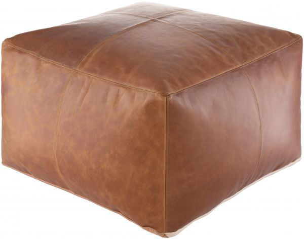 Picture of BARRINGTON LEATHER OTTOMAN