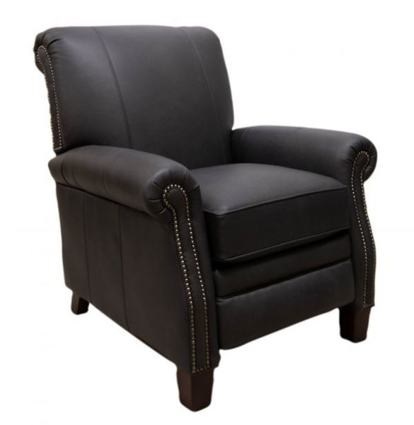 Picture of LEATHER ROLLED ARM PRESSBACK RECLINING CHAIR
