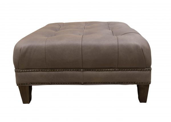 Picture of LEATHER TUFTED COCKTAIL OTTOMAN
