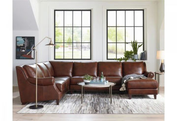 Picture of BASSETT PIERCE LEATHER SECTIONAL