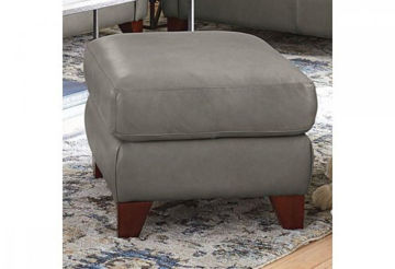 Picture of BASSETT GREYSON LEATHER OTTOMAN