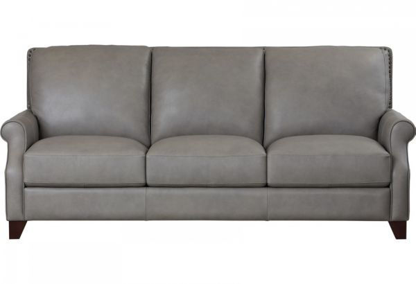 Picture of BASSETT GREYSON LEATHER SOFA