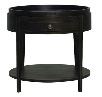 Picture of BASSETT WOODRIDGE ROUND END TABLE