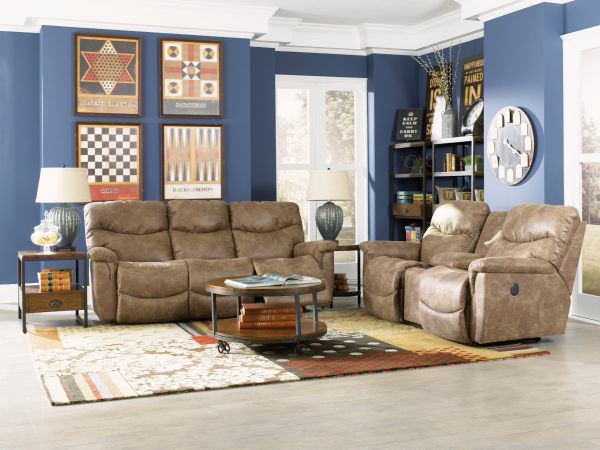Picture of LA-Z-BOY JAMES POWER RECLINING SOFA & CONSOLE GROUP