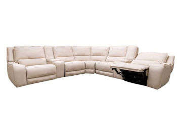 Picture of WHITE CASUAL POWER SECTIONAL