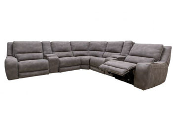 Picture of GRAY CASUAL POWER SECTIONAL