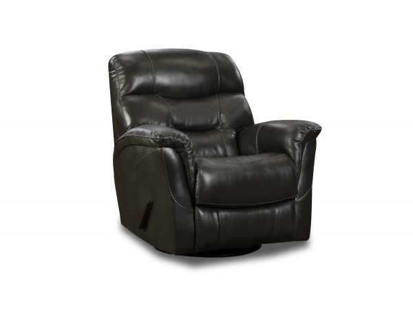 Picture of BLACK MERINO SWIVEL GLIDER RECLINER