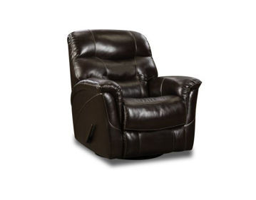 Picture of BROWN MERINO SWIVEL GLIDER RECLINER