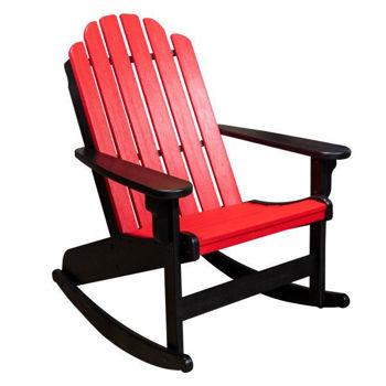 Picture of RED & BLACK SHORELINE ADIRONDACK ROCKER