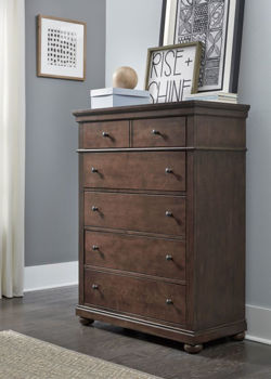 Picture of CANTERBURY WARM CHERRY DRAWER CHEST