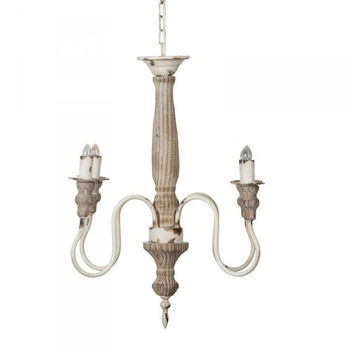 Picture of RUSTIC NATURAL WOOD CHANDELIER
