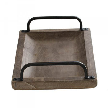 Picture of MODERN IRON WOOD TRAY