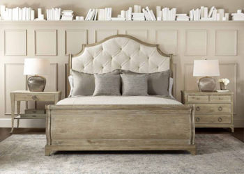 Picture of RUSTIC PATINA KING SLEIGH BED